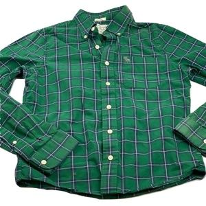 Abercrombie & Fitch Green Plaid Button Down Shirt